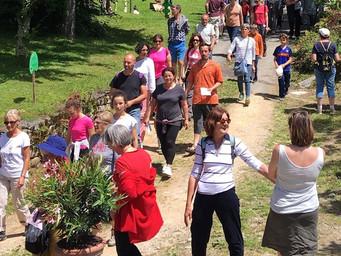 La grande foule pour le 20e anniversaire d'Art-Nature