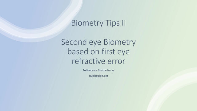 How do you choose IOL power for the second eye, when there has been refractive error in first eye ?