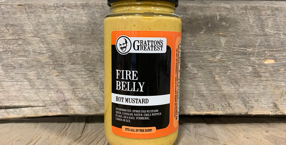 Gratton's Greatest Fire Belly Hot Mustard