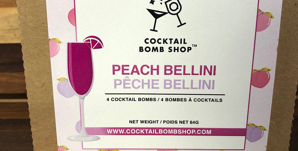 Cocktail Bombs( Peach Bellini)4 pack