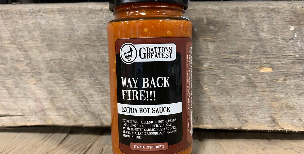Gratton's Greatest Way Back Fire - Extra Hot Sauce