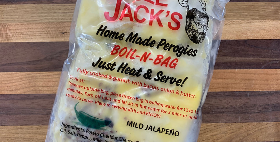 Uncle Jacks Homemade Perogies - Boil N Bag Mild Jalapeno