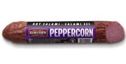Kurtzie's Dried Salami: Peppercorn
