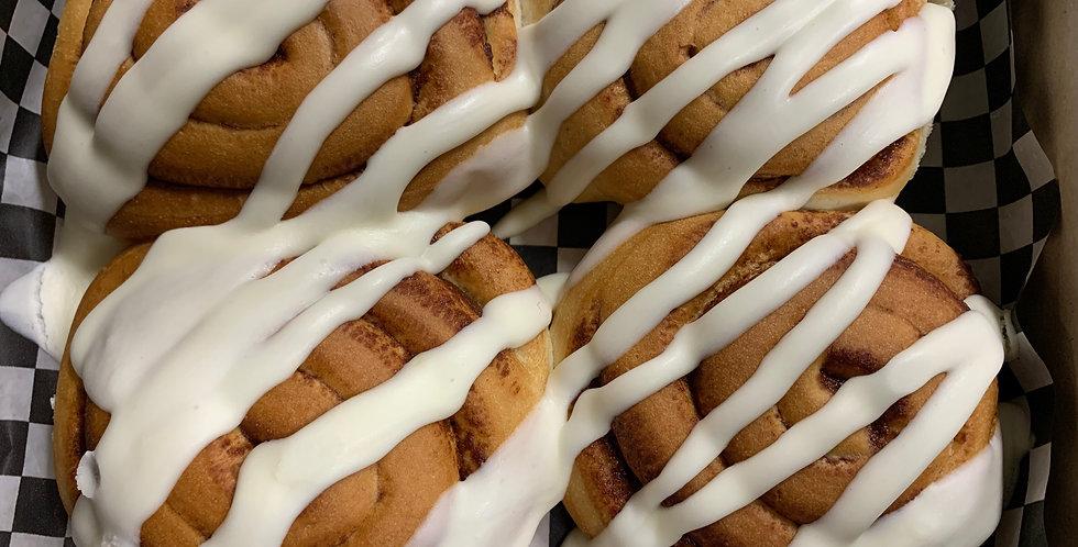 Cinnamon Buns with Cream Cheese Icing (4pk)