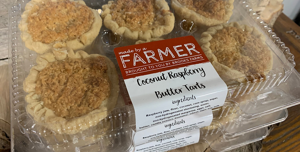 Coconut Raspberry Butter Tarts