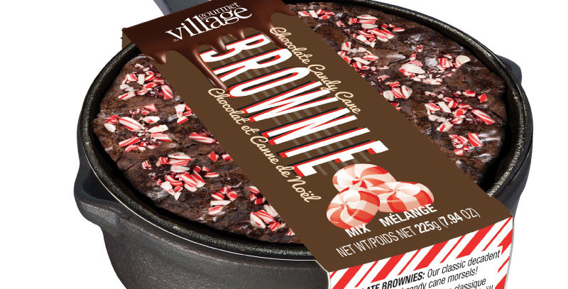Gourmet Village Chocolate Candy Cane Brownie Kit(225g)