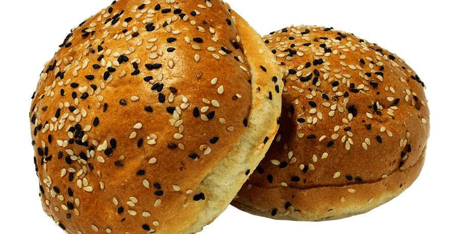 Ace Black and White Sesame Buns (6 pack)