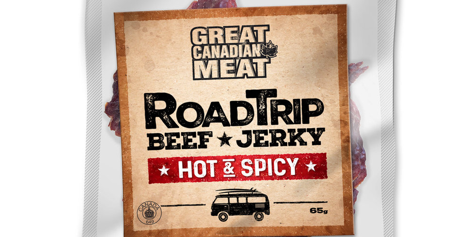 Great Canadian Meat Beef Jerky: Hot & Spicy (65g)