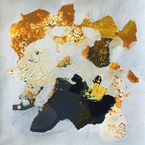 ZEITRAUM I, Monotypie, 20 x 20 cm, 2018