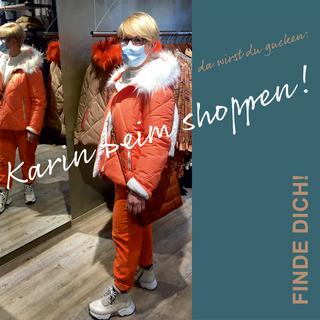 Karin beim shoppen!