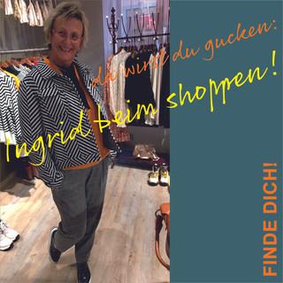 Ingrid beim shoppen...