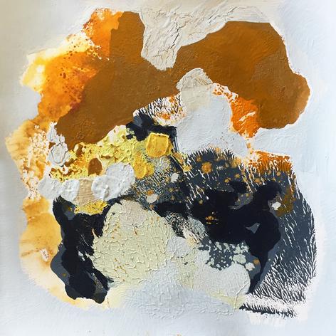 ZEITRAUM II, Monotypie, 20 x 20 cm, 2018
