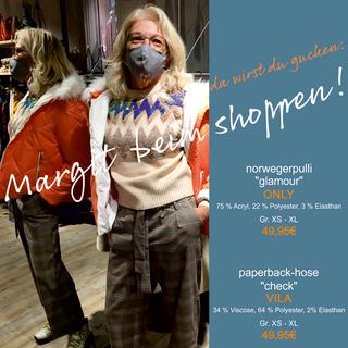 Margit beim shoppen!