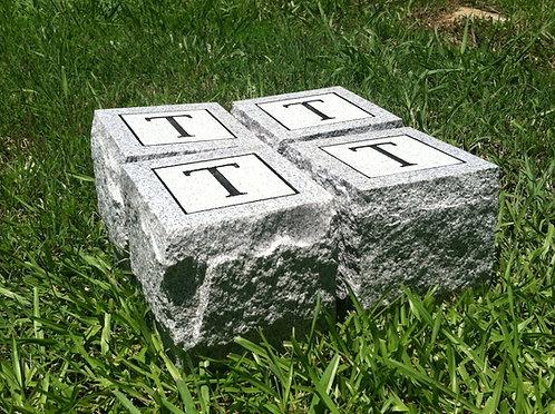 "Lettered Cornerstones 6x6x6"" (Set of 4)"