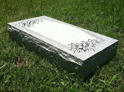 """Granite Memorial (2'x1'x4"""") w/ Design"""