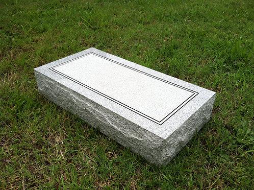 """Granite Memorial (2'x1'x4"""") Flat"""