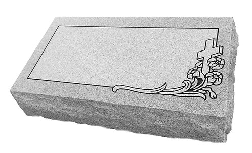 "Bevel Headstone (20""x10""x6"") with Design"