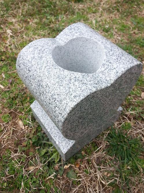 Heart Granite Vase Gray (2 sizes)