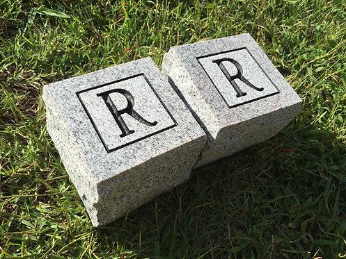 "Lettered Cornerstones 4x4x4"""