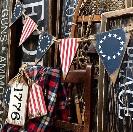 betsy ross wood flag, banner