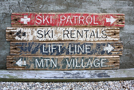 rustic cabin signs