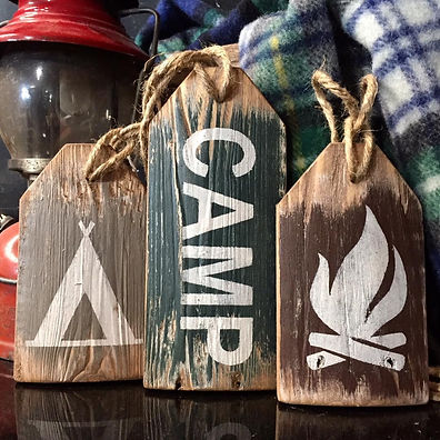 camping decor, camp signs