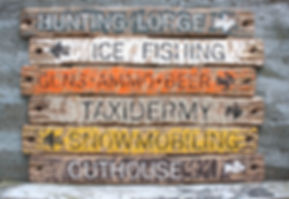 rustic hunting cabin wood signs