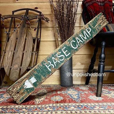 base camp wood sign, hiking decor