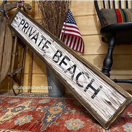private beach sign, cape cod sign