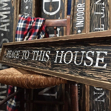 peace to this house, wood bible quote sign