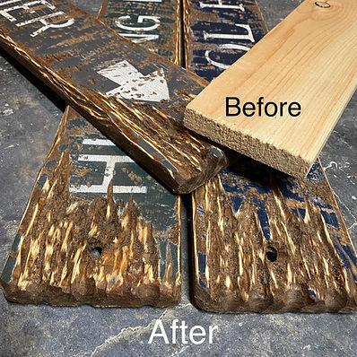 custom wood hunting signs