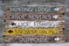 rustic wood cabin signs