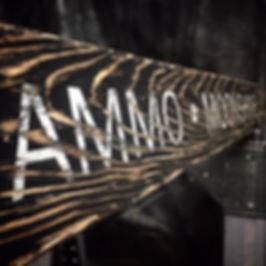 ammo wood sign, gun room decor