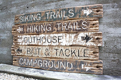 rustic wood fishing signs