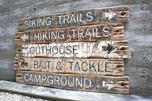 rustic camp signs, wood cabin signs