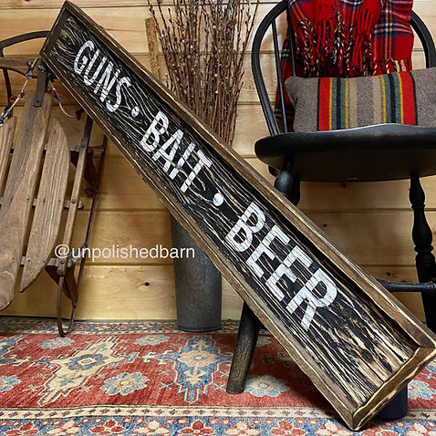 mancave fishing sign, fishing decor