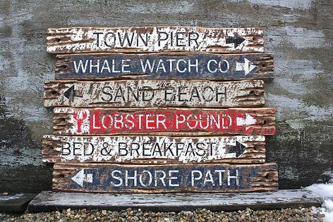 bar harbor maine signs, coastal decor