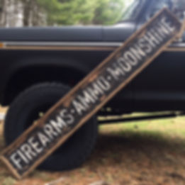 2nd amendment sign, wood moonshine sign