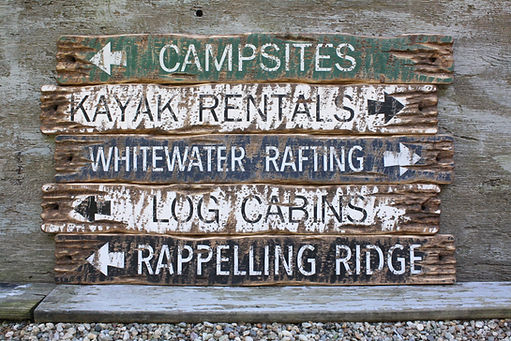 rustic camping signs, hiking wood signs