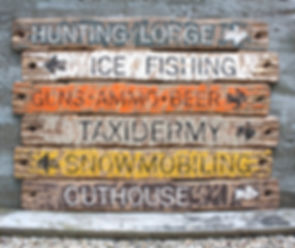 wood hunting cabin signs, rustic fishing signs