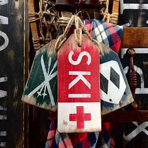 rustic ski decor
