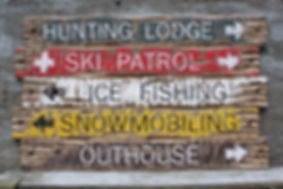 wood cabin signs, hunting decor