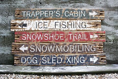 wood hunting cabin signs, lodge decor