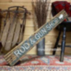 fishing decor, wood fishing sign