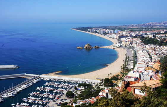 Beach Blanes view. Costa Brava.jpg