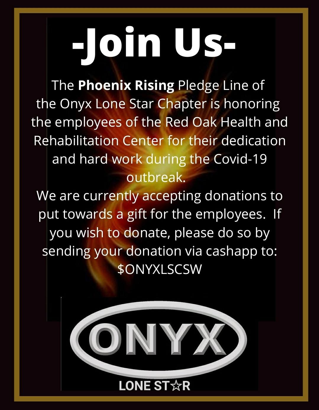 phoenix rising pledge line - fundraiser