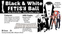 poster b&w fetish ball 2020 landscape (f