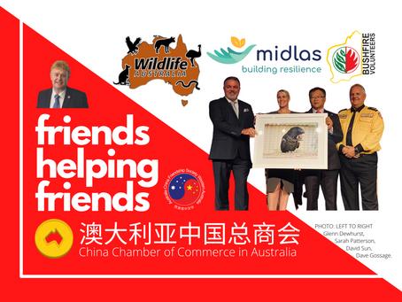 Friendship healing WA after bushfires