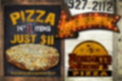 14_ Pizza + 2 Items = $11