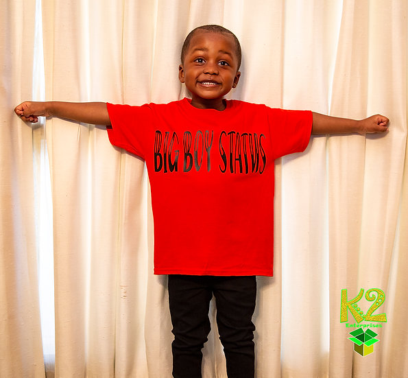 KIDS/YOUTH BIG BOY STATUS T SHIRT